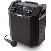ION Audio Block Rocker Plus | 100W Portable Speaker, Battery Powered with Bluetooth, Microphone & Cable, AM/FM Radio…