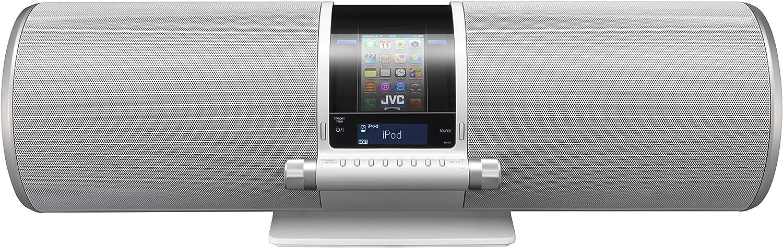 Jvc Rv S1we Boomblaster Audio System Mit Dockingstation Für Apple Ipod Iphone 40 Watt Usb Weiß Audio Hifi