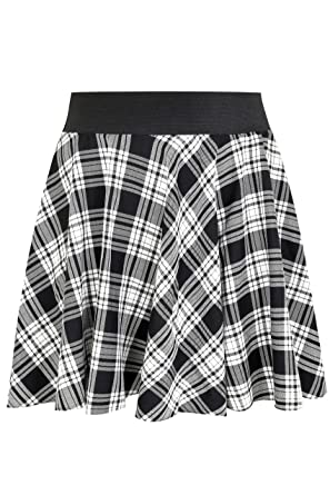 12c7d4965f085 Womens Limited Collection   Grey Checked Skater Skirt