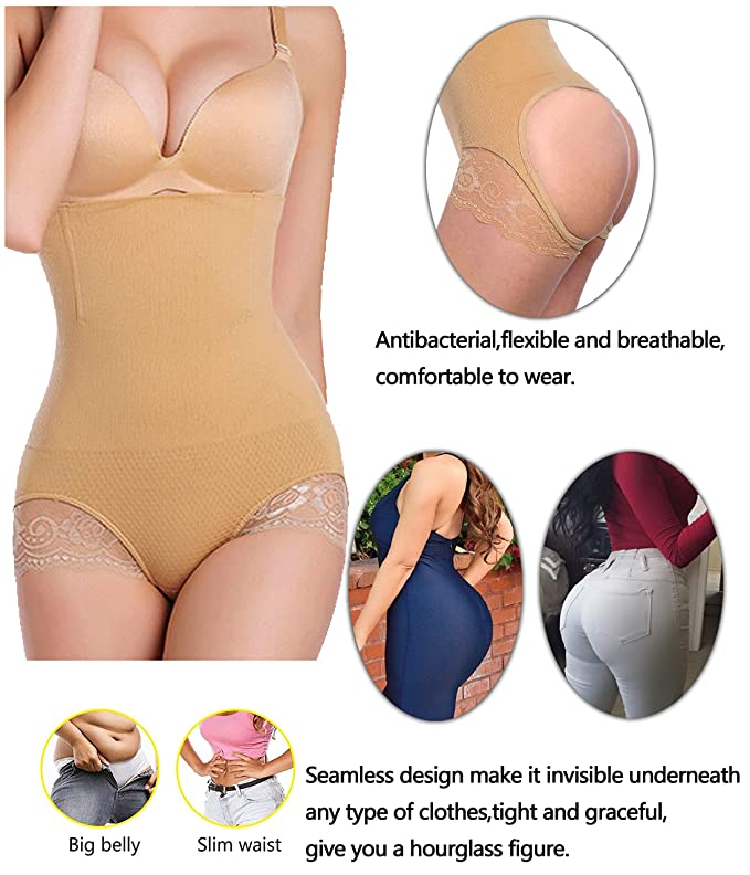 Tum Bum Hip Thigh Invisible Slim Shaper Pants M Seen as TV Wife Birthday Gift