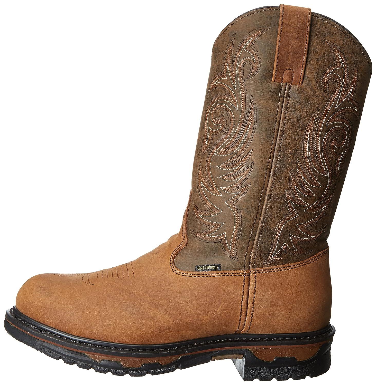 68112 Laredo Mens Sullivan Work Boots  Chocolate