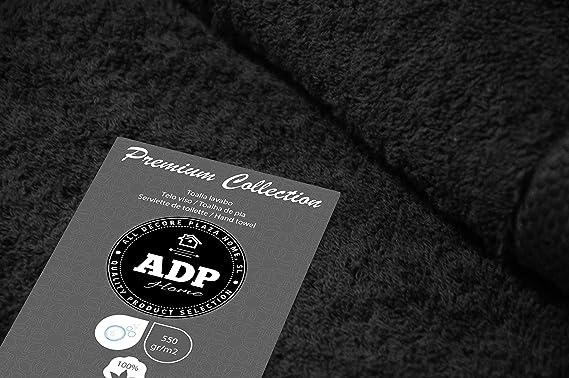 ADP Home - Pack Toallas 550 Grms 4 Piezas (Toalla Lavabo/Mano) 100% Algodón Peinado Color - Negro Talla - 50 x 100 cm: Amazon.es: Hogar