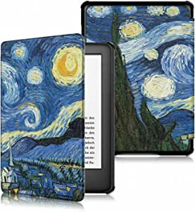 TERSELY Slimshell Case for All-New Kindle (10th Generation, 2019 Release) - Premium Smart Shell Cover Lightweight Protective PU Leather Cover with Auto Sleep/Wake for Amazon Kindle 2019 (Starry Sky)