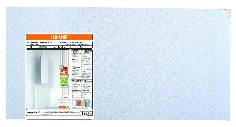 wei/ß 1 x 0,5 m x 7 mm 2 Packst/ücke CLIMAPOR Energiespar-D/ämmplatte grundiert = 8 qm