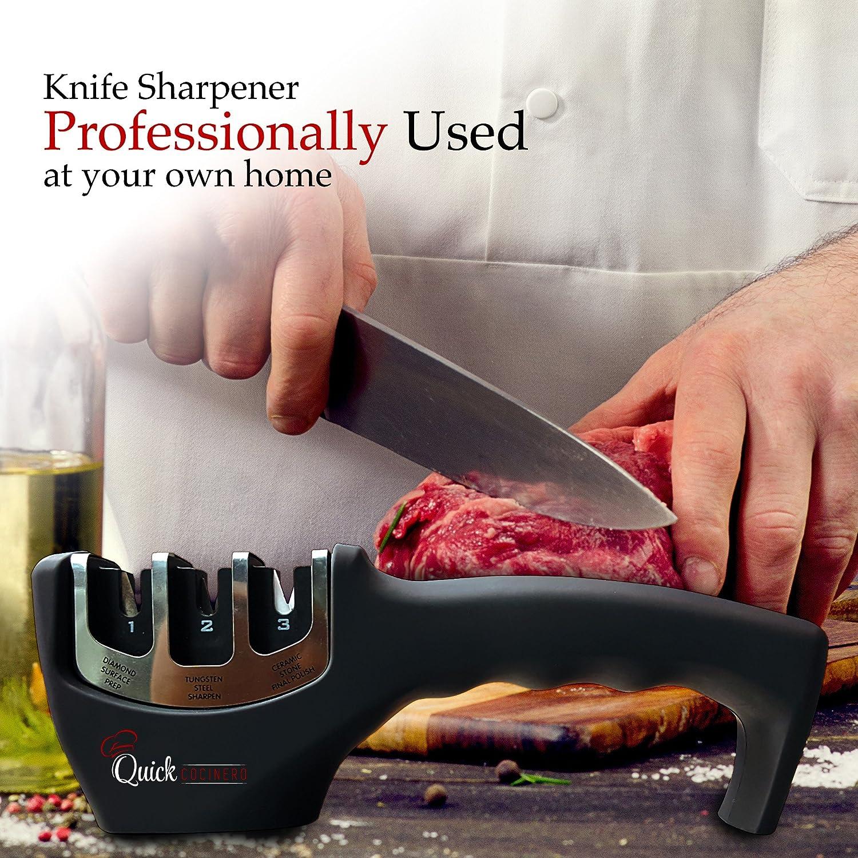 amazon com knife sharpener by quick cocinero professional