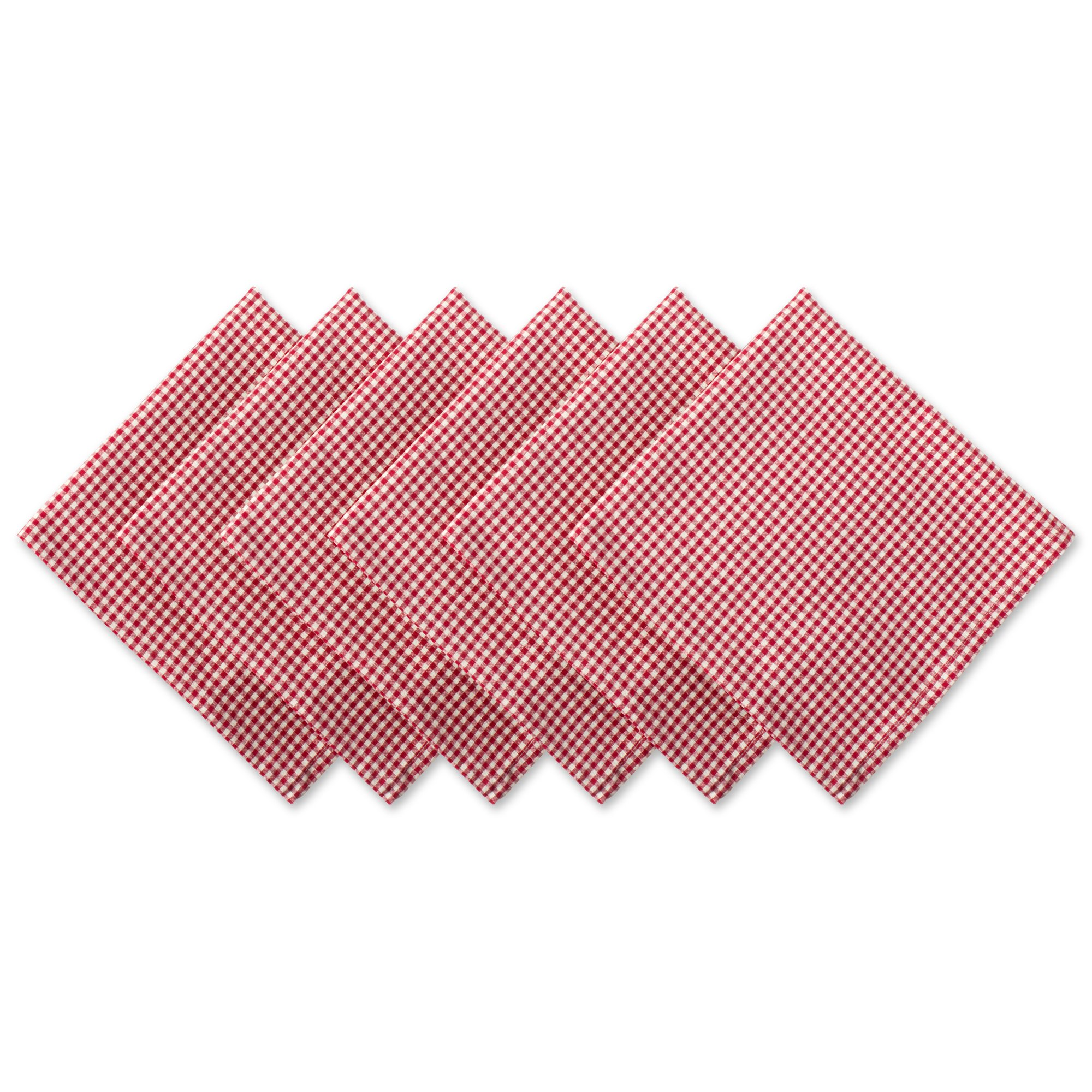 DII Oversized Basic Everyday Napkin (Set of 6), 20 x 20, Red Cider