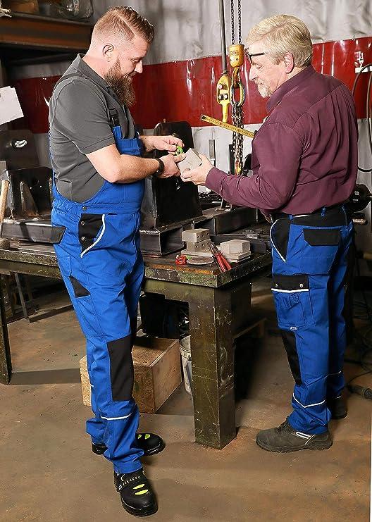 V/êtements de Travail pour Les Artisans 48 avec Genouill/ère Int/égr/ée Pantalons de S/écurit/é XS-7XL Bleu TMG/®/Pantalon de Travail pour Hommes