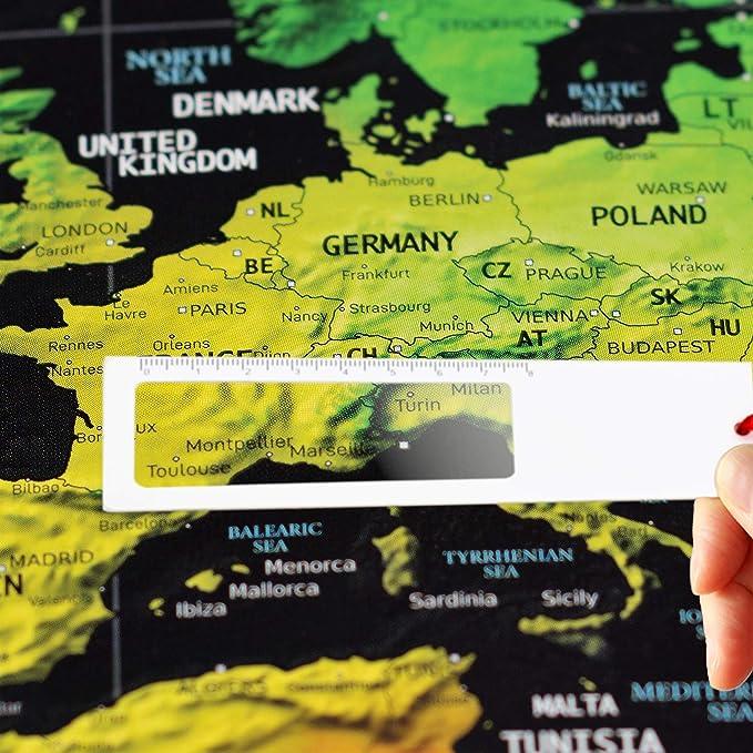 Your Adventure Mapa Mundi Para Rascar Grande (84 x 59,4) y Mapa Rascar De España (29,7 x 21) Para Colgar En La Pared - Scratch Map Para Marcar Viajes: Amazon.es: Oficina y papelería