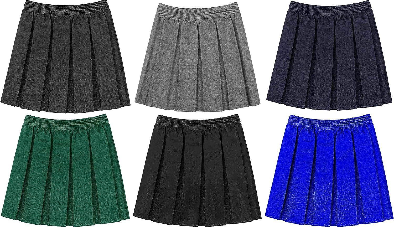 FASHION REVIEW Gimbles/® Back to School Girls Pleated School Uniform Elasticated Waist Skirt 2-16 Years