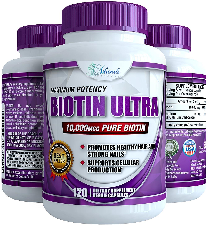 Amazon Com Biotin 10 000mcg 120 Capsules Best Vitamins For
