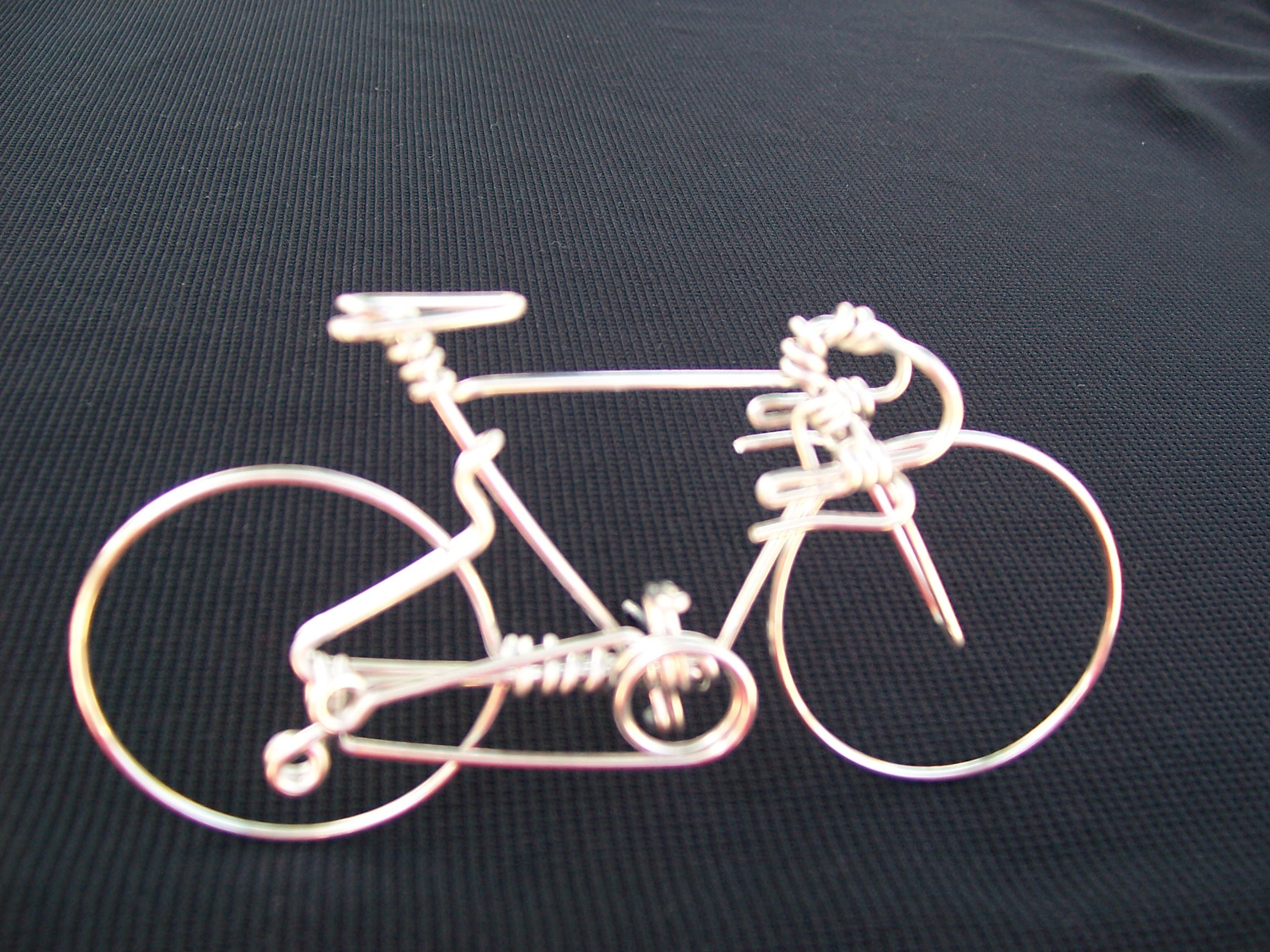 Handcrafted Mens Road Bike Small ~Unique Biking Birthday Gifts for Cyclists as Cake Toppers ~One Whole Aluminum Wire w/ No Single Break ~Metal Vintage Bicycle Art Decor as Cycling Biker Gifts for Him