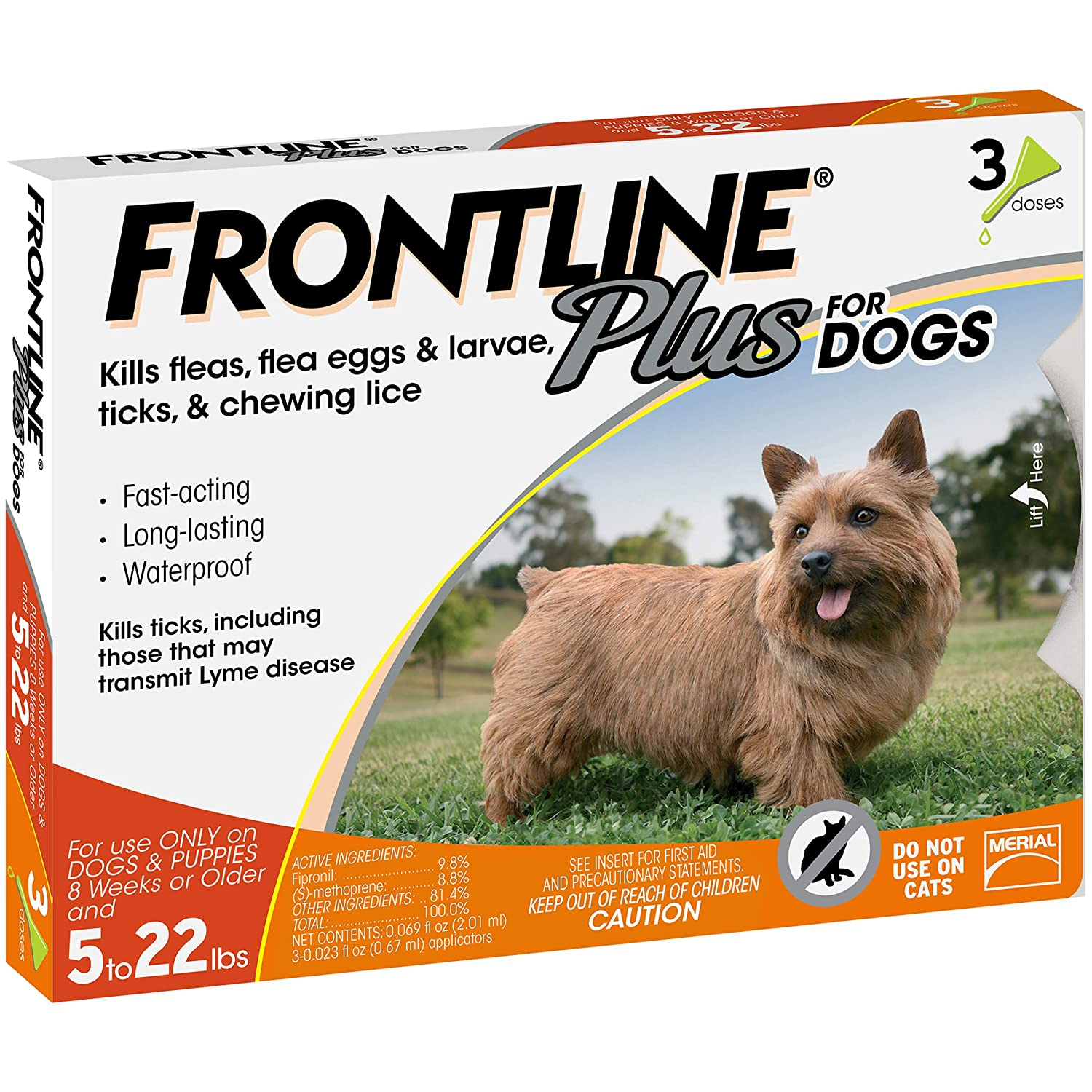 amazon com frontline plus for dogs 022 lbs orange 3 month pet rh amazon com