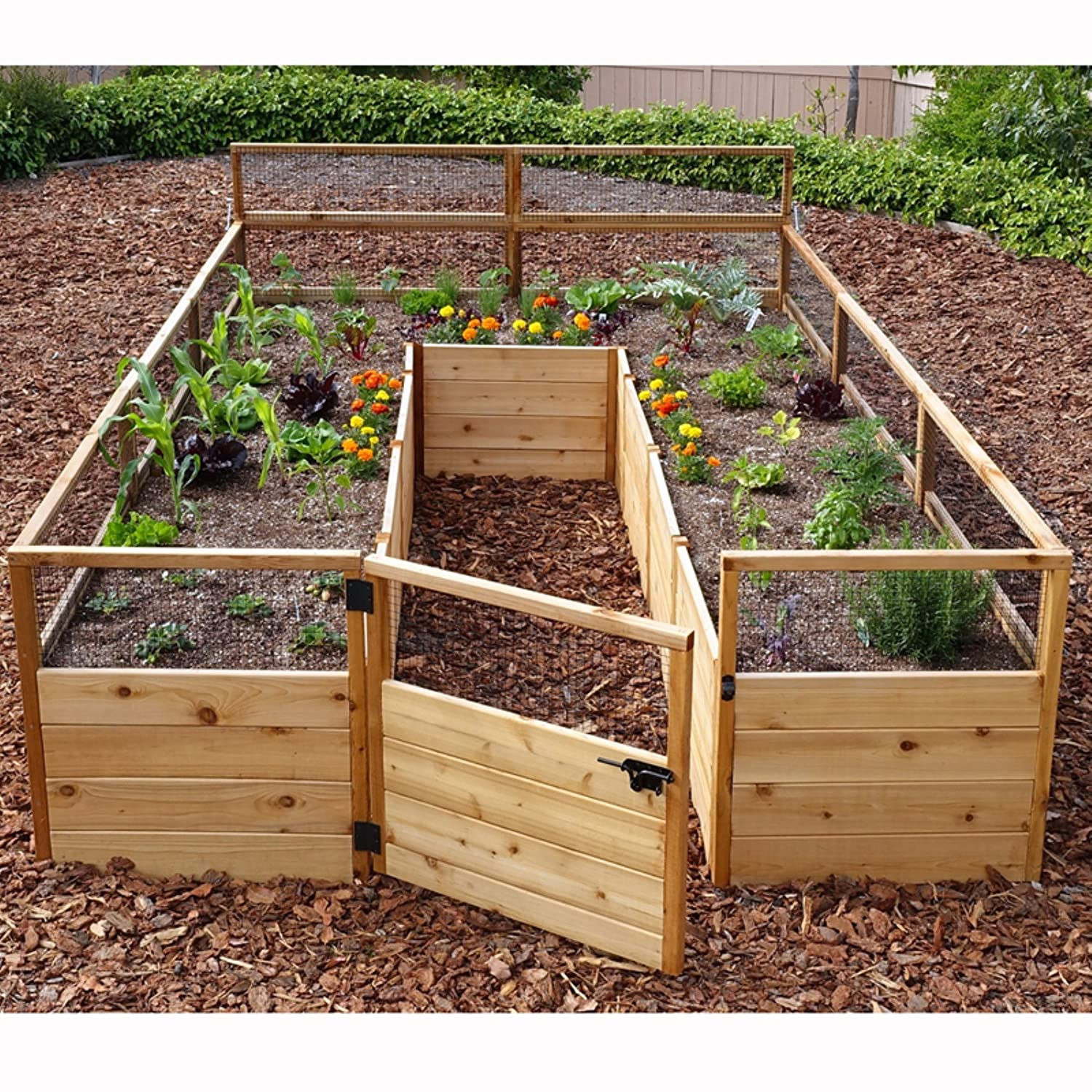 garden design decoration pertaining tiered home plans x with raised proportions outdoor trellis bed to beds kit cedar