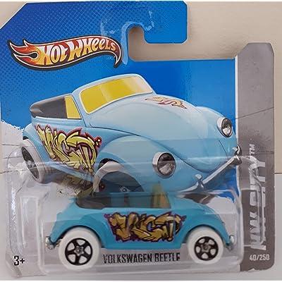 Hot Wheels 2013 Hw City Light Blue Volkswagen Beetle Graffiti Rides 40/250: Toys & Games