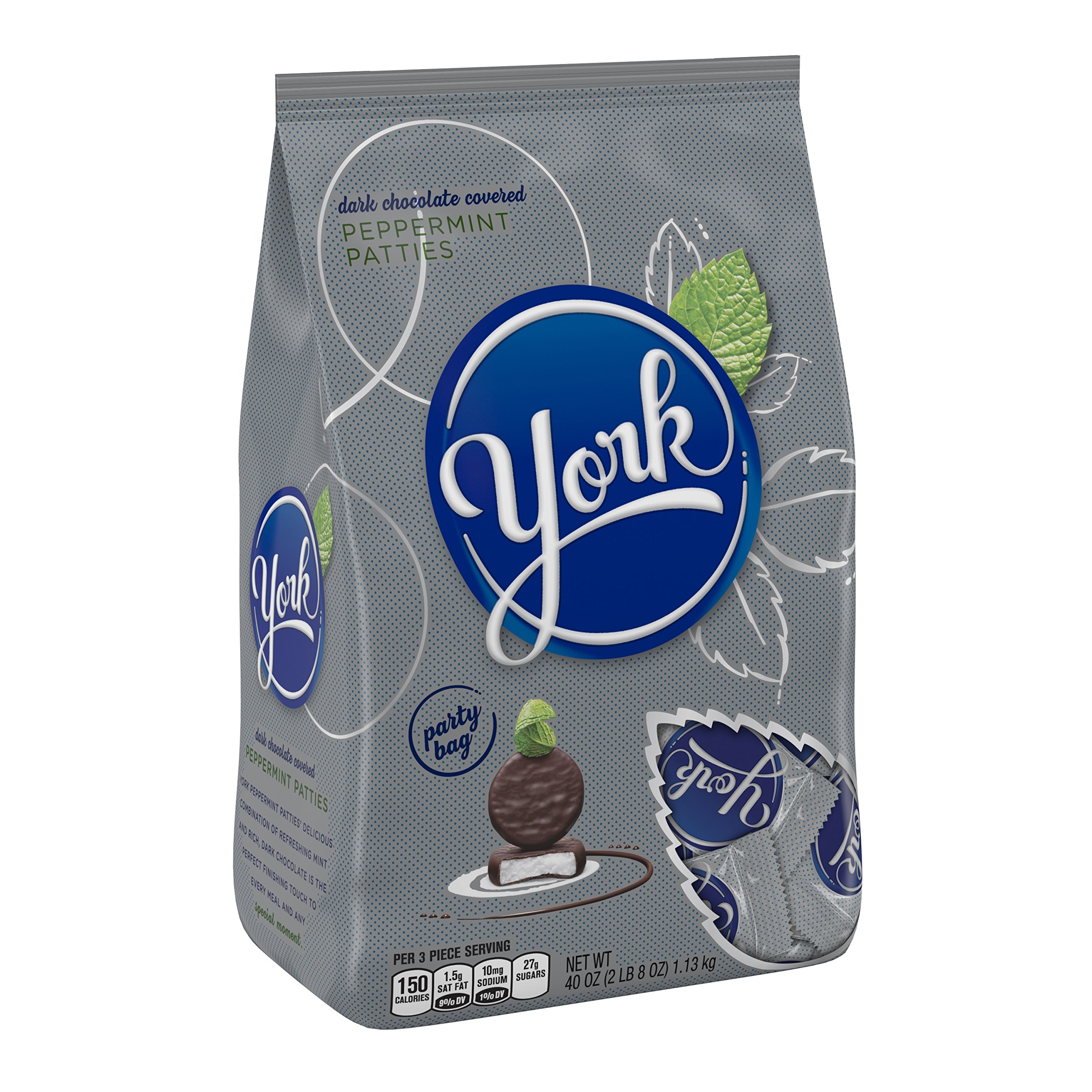 YORK Dark Chocolate Peppermint Patties, 40 Ounce Bulk Candy