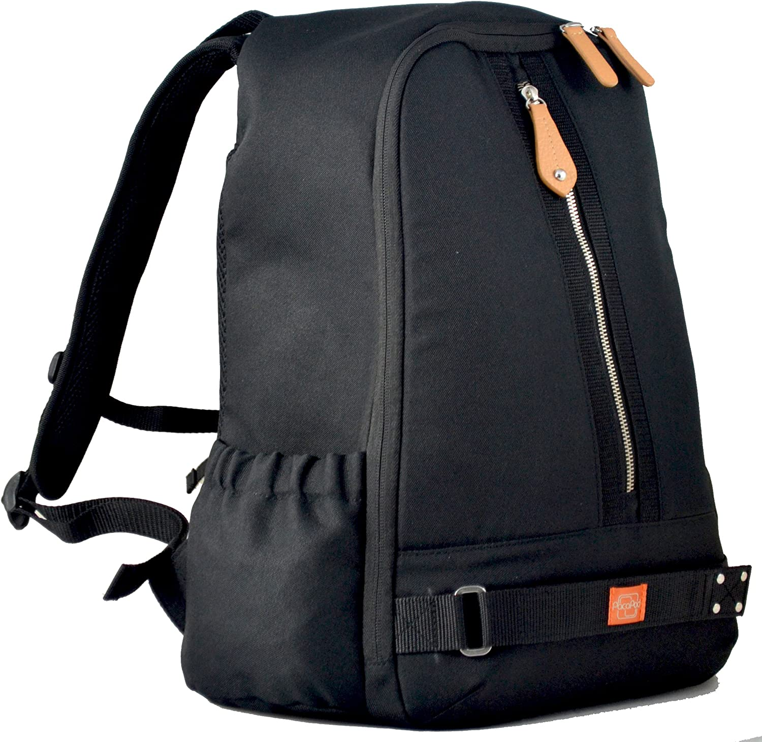 PacaPod Picos Pack Black Shell Designer Baby Changing Bag Unisex Luxury Black Backpack Outer Shell