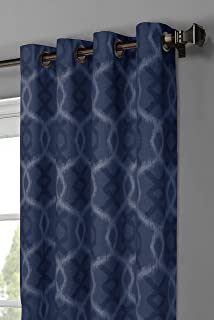 Window Elements Avila Printed Cotton Extra Wide 104 X 96 In Grommet Curtain Panel Pair