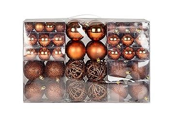 Christbaumkugeln Champagnerfarben.Amazon De Exklusives Weihnachtskugeln Christbaumkugeln Set Mit 100