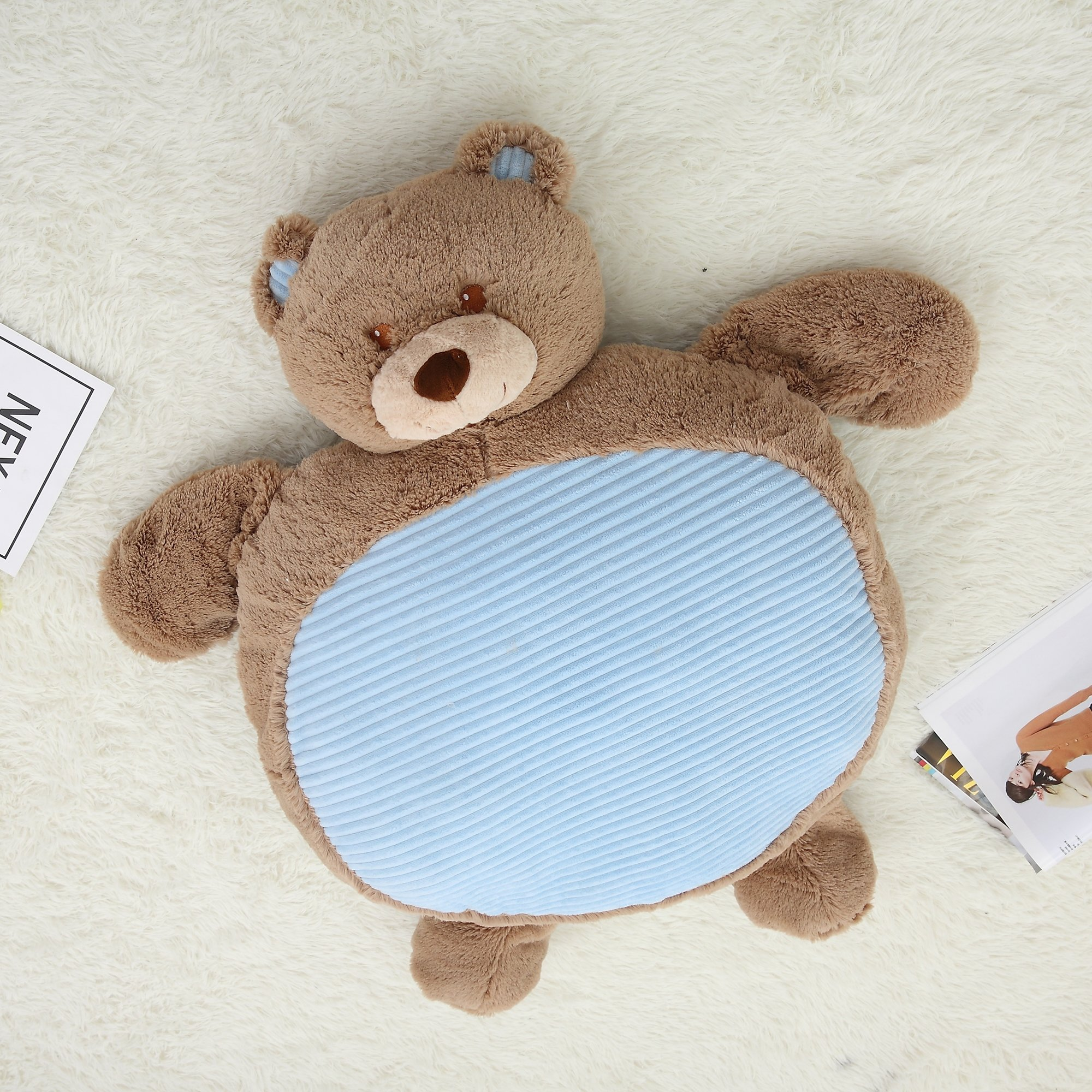 Vercart Cute Cuddly Stuffed Animals Cushions For Your Children Play on The Floor Brown 31x24x5 Inches