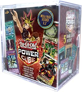 Yu-Gi-Oh! Trading Cards 728192497261 Power Cube 2- Mega Pack Seeded 1: 2 | 2 Booster Pack | All Factory Sealed Pack | 5 Rare Cards, Multicolor