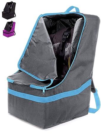 Amazon.com: ZOHZO Car Seat Travel Bag — Adjustable, Padded Backpack ...