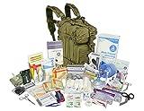 Lightning X Stocked EMS/EMT Trauma & Bleeding First Aid Responder Medical Backpack + Kit - OD Green