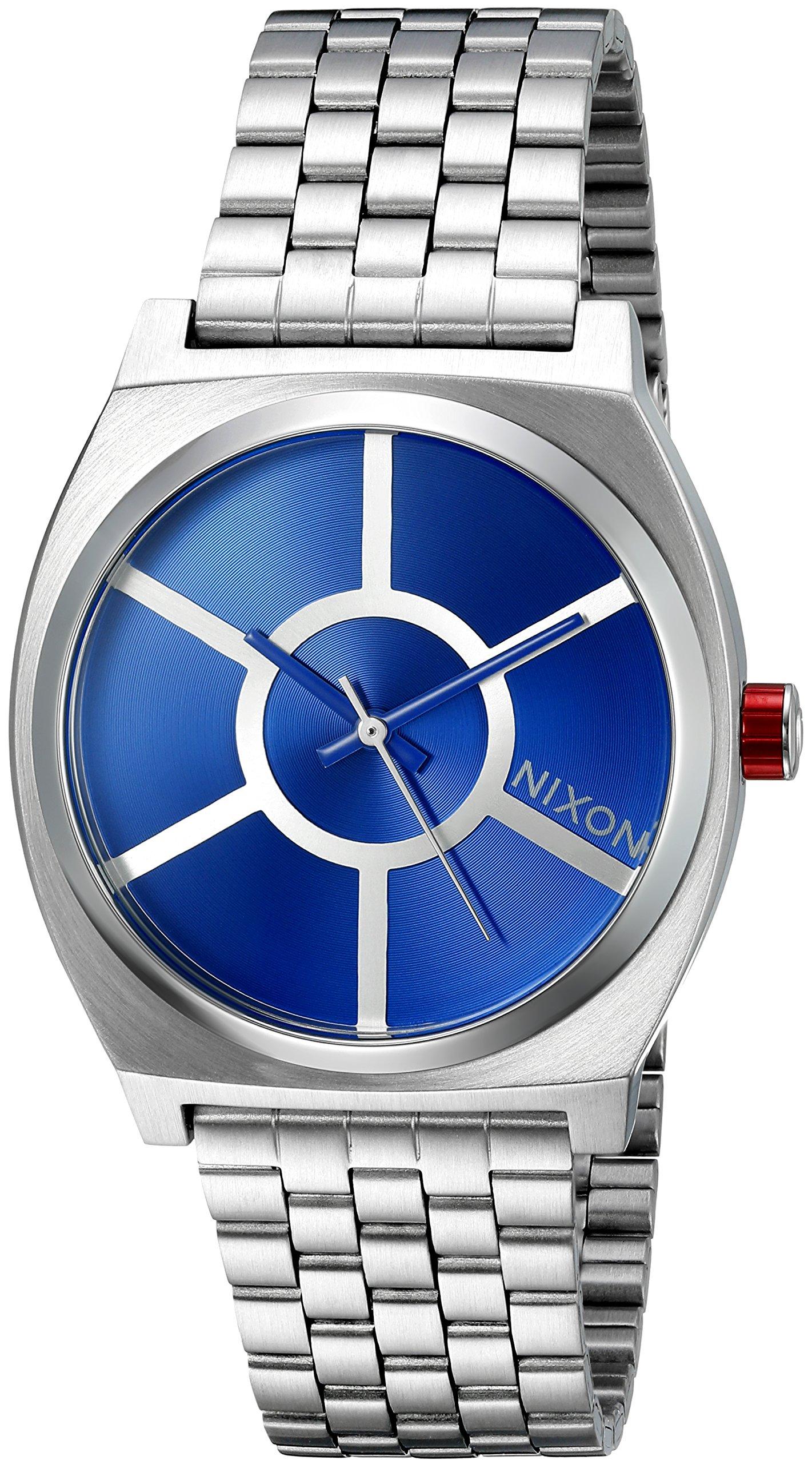 Nixon Men's Time Teller SW, R2D2 Blue Stainless Steel Bracelet Watch