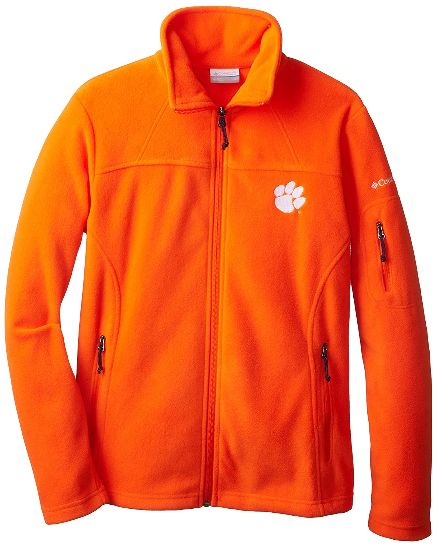 Columbia NCAA Clemson Tigers Give and Go  Collegiate Womens Full Zip Fleece Jacket