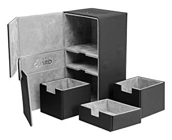 Ultimate Guard Twin Flip´n´Tray Deck Case 200+ Caja de Cartas Tamaño Estándar XenoSkin Negro