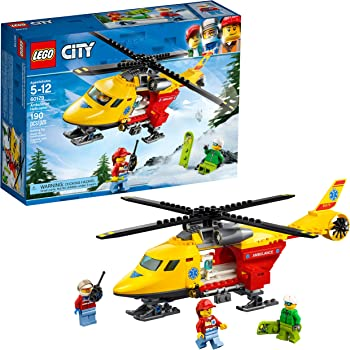 190 Piece LEGO City Great Vehicles Ambulance Helicopter Building Kit