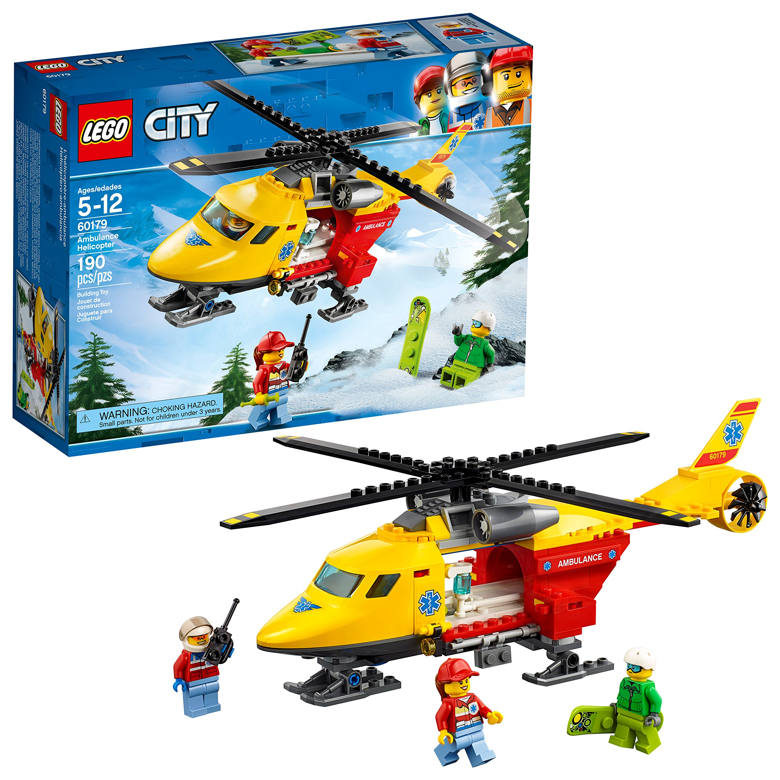 LEGO City Ambulance Helicopter 60179 Building Kit (190 Piece) by LEGO
