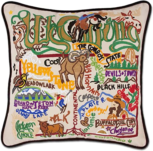 Catstudio Wyoming Embroidered Decorative Throw Pillow