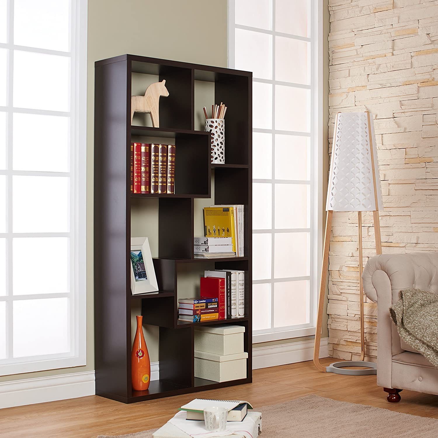 decor contemporary collections ideas distressed green bookshelf backless interior bookcase appealing for furniture french