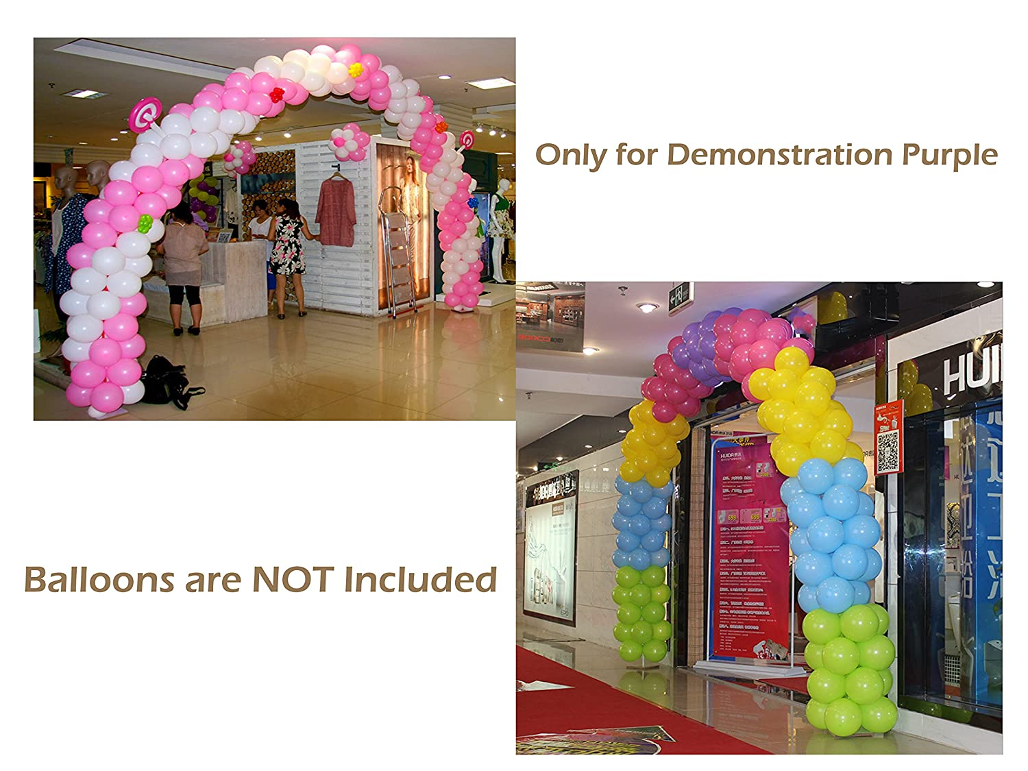 Amazon.com: Large Balloon Arch Kit - 8FT Tall & 18Ft Wide Easy DIY ...