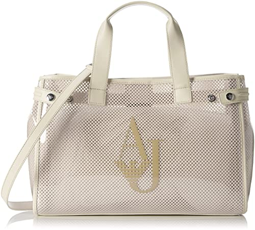 38b59ae18a80 Armani Jeans Women s 9225917P780 Top-Handle Bag Beige Size  13x27x41 ...