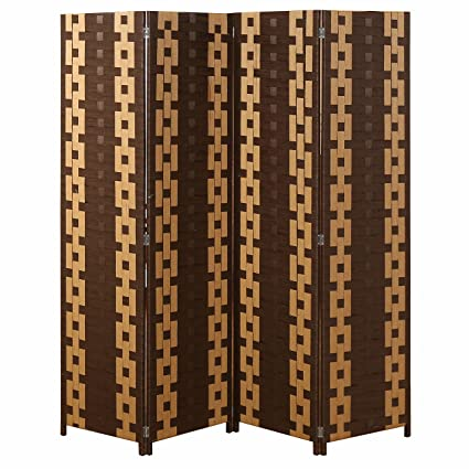 Amazoncom MyGift Chain Link Pattern 4 Panel Room Divider