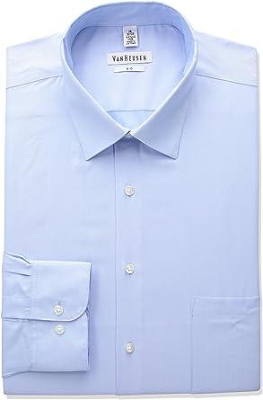 Van Heusen Camisa de vestir para hombre, diseño de espiga ...