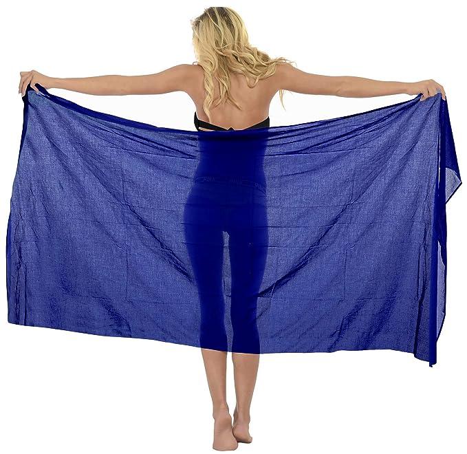 3c4fba4d31 LA LEELA Cotton Beach Bikini Cover Up Wrap Sarong Solid 72 quot X42 quot   ...