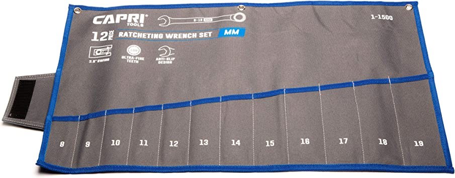 Capri Tools Wrench Roll Up Pouch, Metric