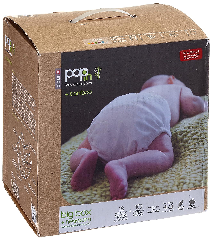 Cerrar Pop-327105 en panales de tela - Caja grande de bambu Brights Pastel: Amazon.es: Bebé