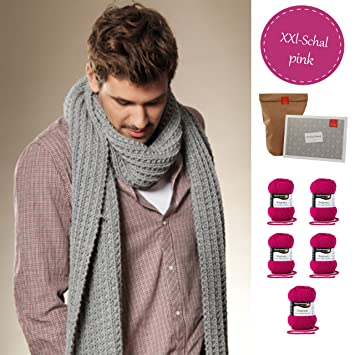 Strickset Winter Xxl Schal Wollrausch Diy Packung Schal Stricken