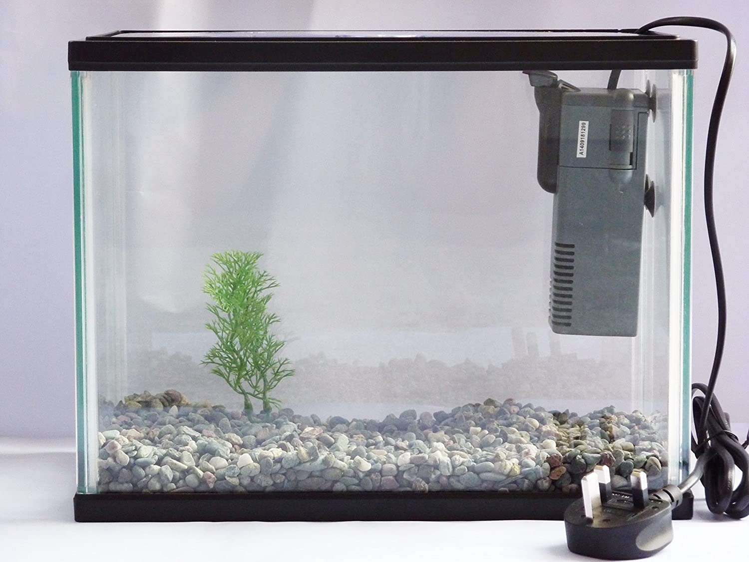 Small nano aquarium fish tank tropical - Starter Aquarium Small Fish Tank Complete With Filter Plant Fish Net