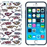 "iPhone 6 Plus + Case, DandyCase PERFECT PATTERN *No Chip/No Peel* Flexible Slim TPU Case Cover for Apple iPhone 6 Plus (5.5"" screen) - LIFETIME WARRANTY [Colorful Floral Whales]"
