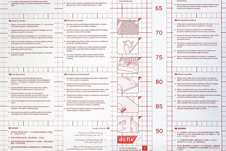 Transparent 200 x 67,5 cm Vinyle d-c-fix/® F3468052 Film adh/ésif