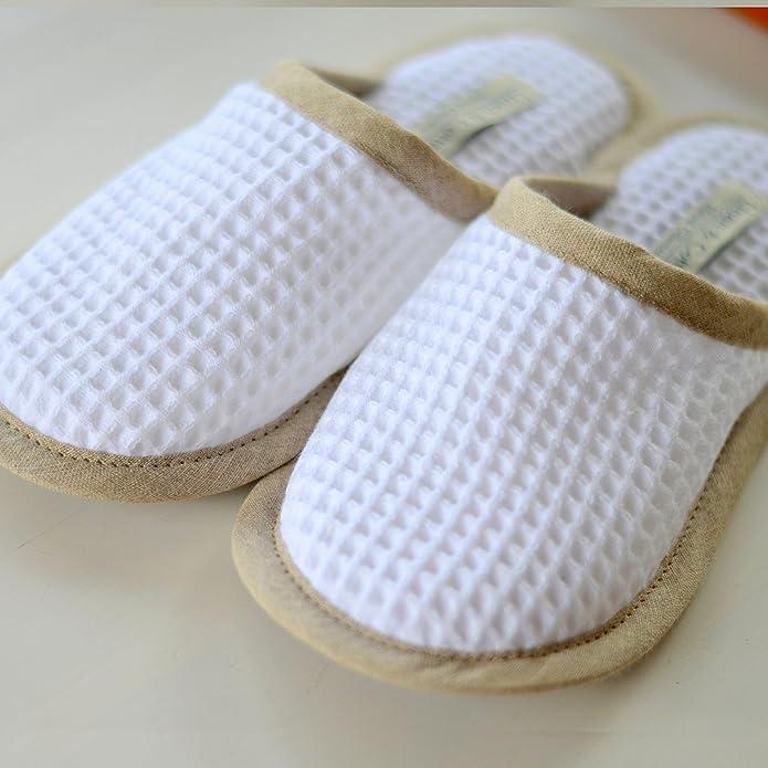 Linge De Maison Et Pantoufles Coton Pantoufles Maison Pour Être Par Aiko Femme / Homme 100% Coton (eur 45-46, Blanc)
