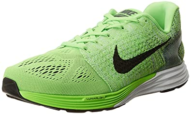 2b5a9f52481 Nike Men s Lunarglide 7 Green and Black Running Shoes - 7 UK India ...