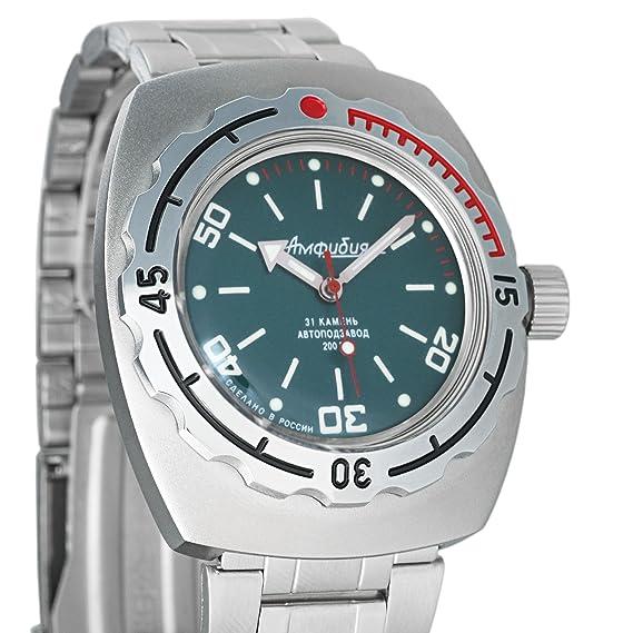 Vostok Militar ruso Diver de anfibios 200 WR mecánico automático Self-winding muñeca reloj 90821: Amazon.es: Relojes