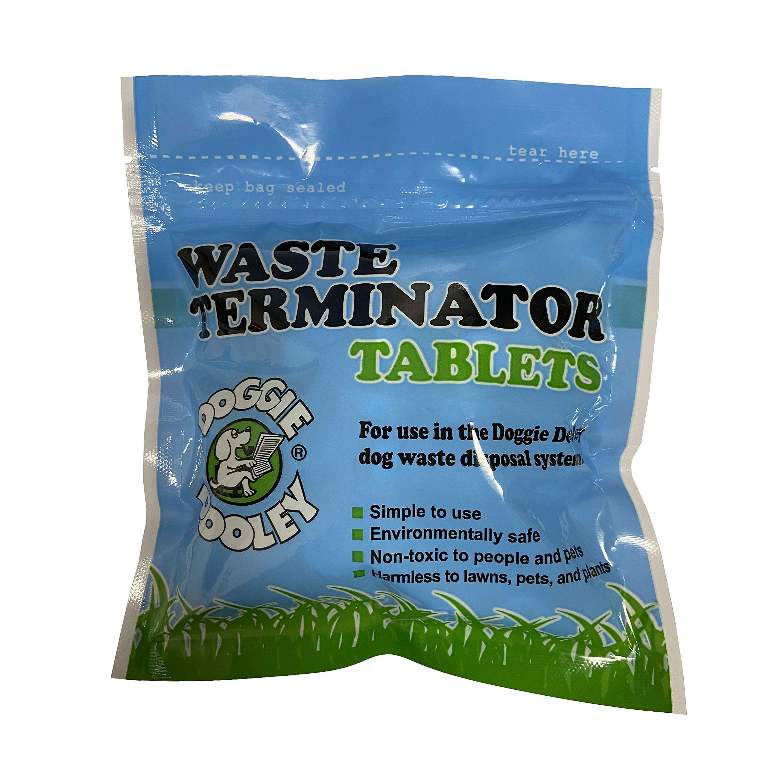 Doggie Dooley 36 Waste Tablets, White