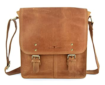 06ff8c1ba7b URBAN FOREST Leather Cognac Unisex Messenger Bag  Amazon.in  Bags ...