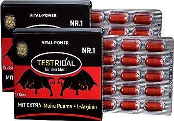 El superventas de B.P.V Testridal 30 cápsulas=16g - alternativa a los afrodisiacos, a las pastillas afrodisiacas - Producto combinado en dosis alta idóneo para deportistas y hombres: Amazon.es: Salud y cuidado personal